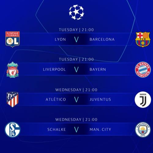 Champions League Schedule On Us Tv Round Of 16 February 19