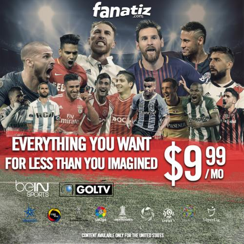 Fanatiz adds beIN SPORTS and GolTV to strengthen soccer