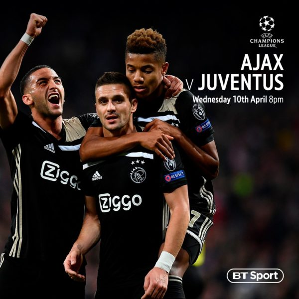 where to watch juventus vs ajax