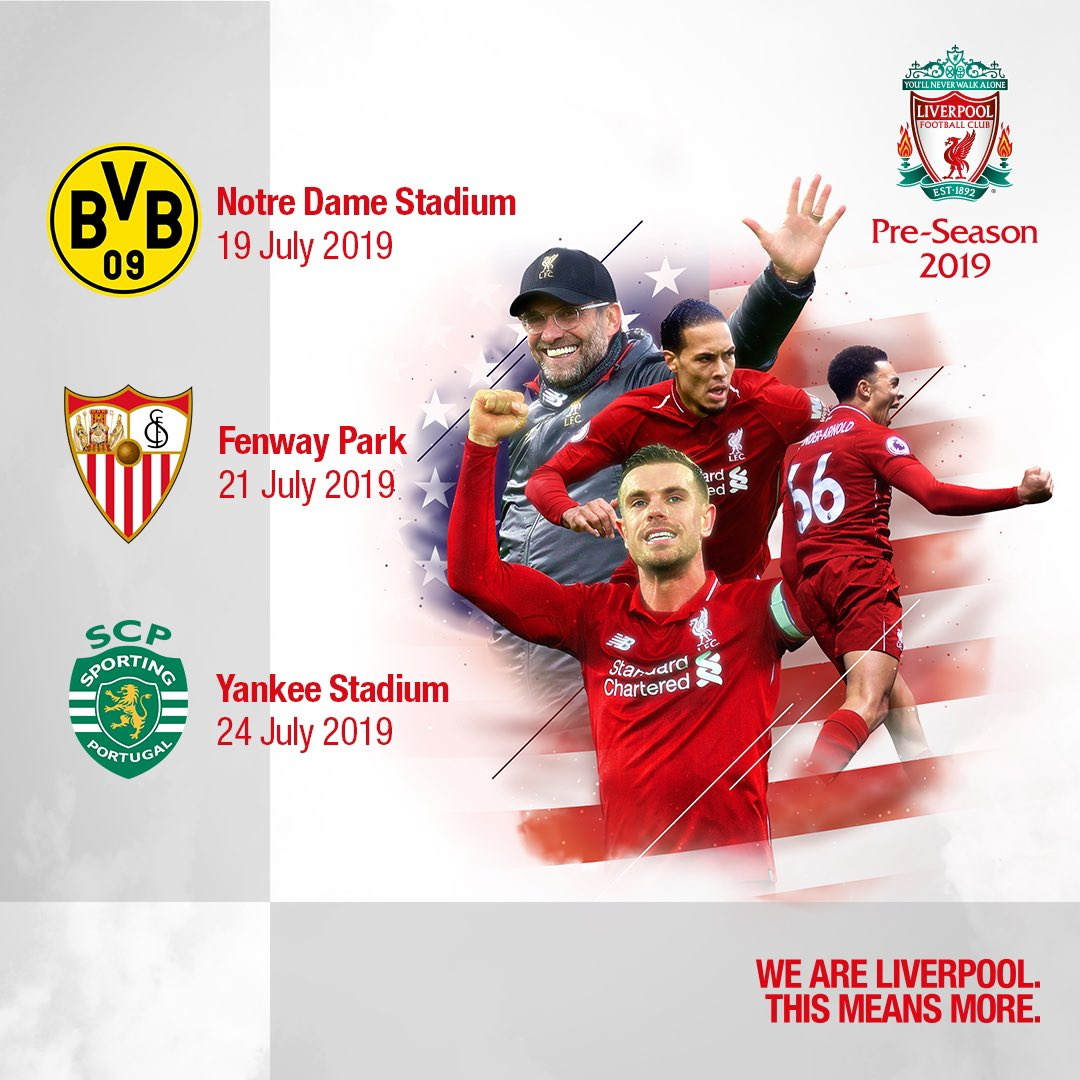 Liverpool Schedule Us Tour To Hit Boston New York And