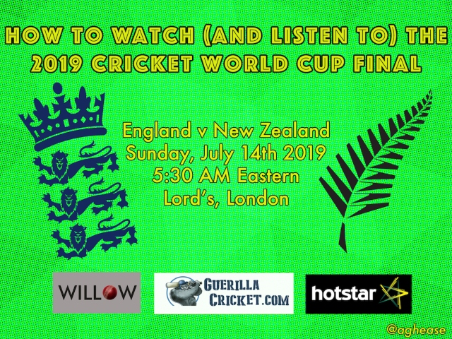 How To Watch The 2019 Cricket World Cup Final Between