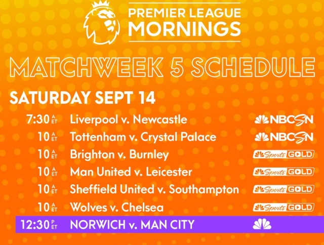 EPL commentator assignments on NBC Sports, Gameweek 5 - World Soccer Talk