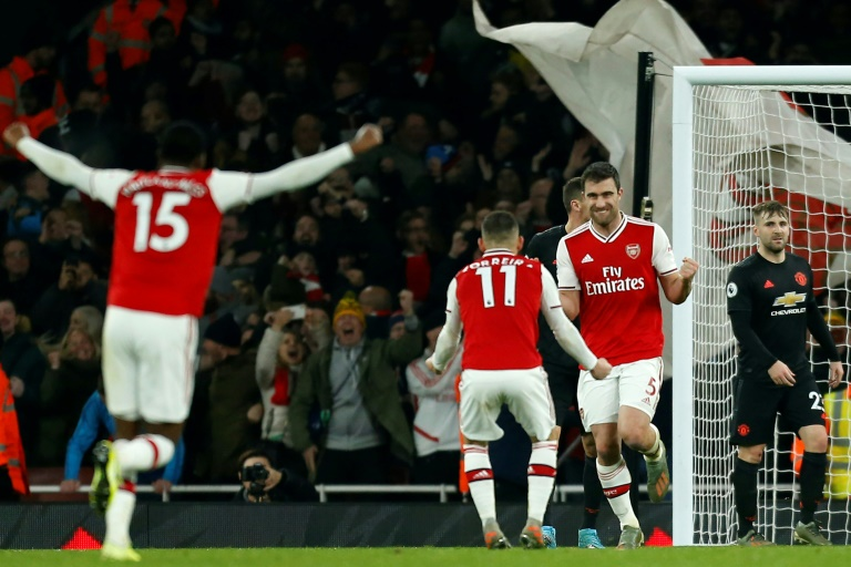 Image result for arsenal 2-0 manchester united 2020
