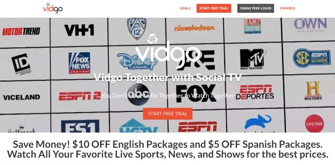 Vidgo Streaming Service Expands To Include Espn And Fox Channels For Under 30 World Soccer Talk