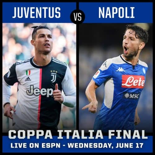 Where to find Juventus vs. Napoli Coppa Italia Final on US ...