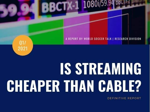 is streaming TV cheaper than cable?