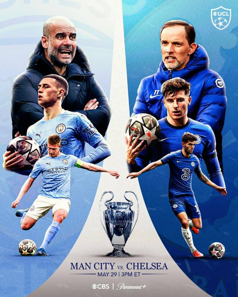 Where to find Chelsea vs. Man City Champions League Final ...