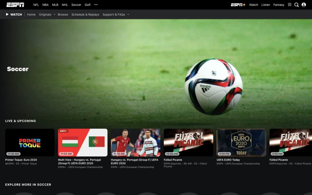 How to watch soccer games on ESPN3