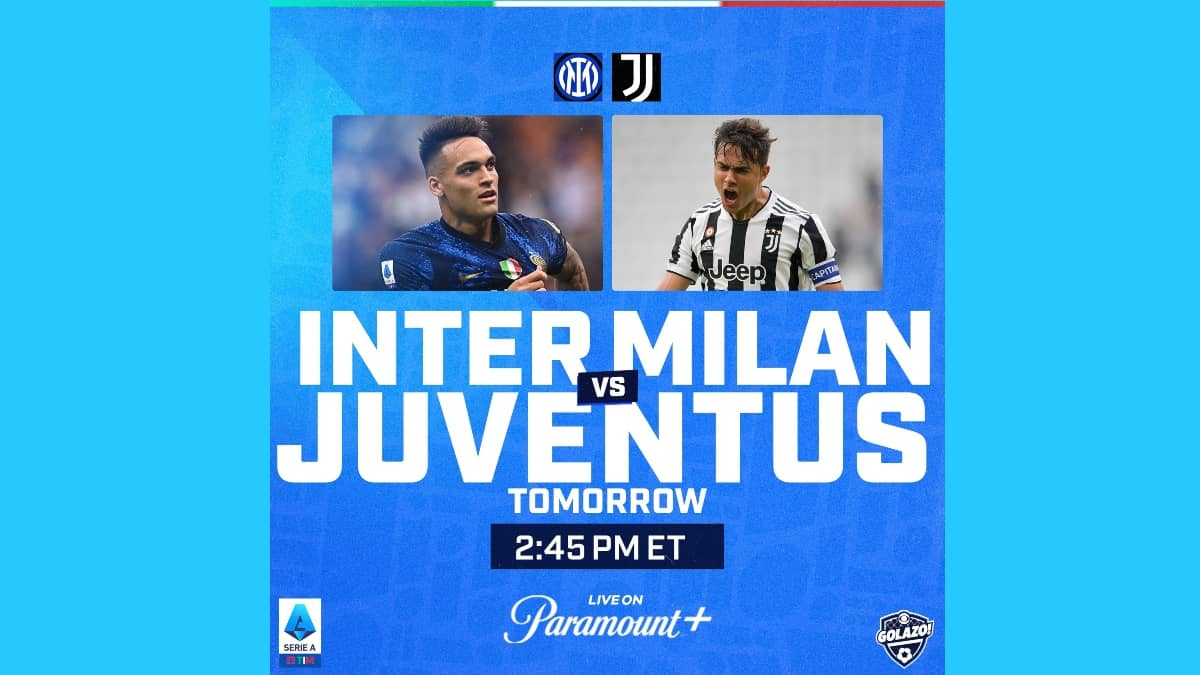 Where to find Inter Milan vs. Juventus on TV and streaming
